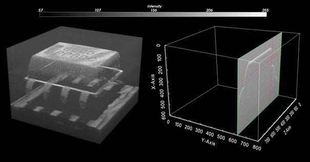 Gerenderte Ansicht eines 3D-Datensatzes.